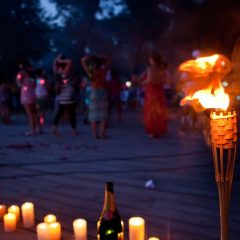 Candle and Torch Deck Lighting