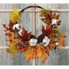 Harvest Fall Half Wreath